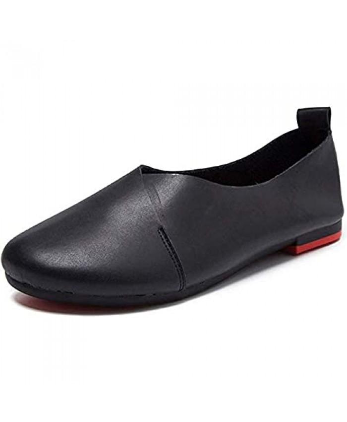 PhiFA Women's Genuine Leather Comfort Glove Shoes Ballet Flats