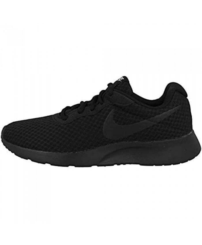 Nike Women's Tanjun Running Shoes Black (Black/White) 9 UK