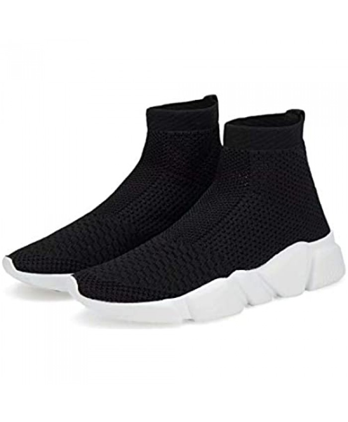 Voxge Men's and Women's Sock Sneakers Lightweight Breathable Athletic Running Shoes Fashion Tennis Sport Walking Shoes
