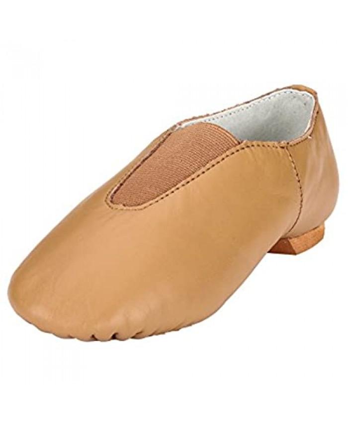 MSMAX Women's Slip on Leather Jazz Shoes