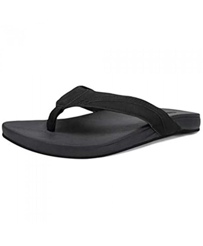 CIOR Men Flip Flop Men Thong Sandals Flat Slide Sandals for Men with Soft Cushion Footbed Indoor Outdoor Beach Slippers