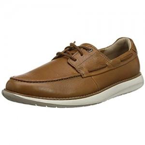 Clarks Men's Un Pilot Lace Low-Top Sneakers Brown (Tan Leather Tan Leather)