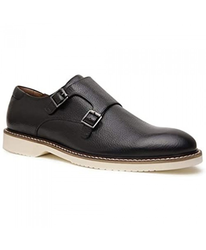 Allonsi | Genuine Leather Dress Shoes | Leather Monk Strap Shoes | Handcrafted Detailing | Comfortable Mens Formal Shoes | Quality Craftsmanship | Everyday Work Shoes | Oxford Dress Shoes|Durable Sole