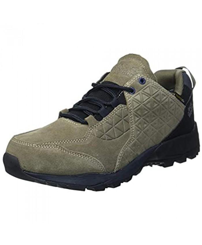 Jack Wolfskin Men's Cascade Hike LT Texapore Low M Outdoor Shoes Khaki Phantom 7.5 UK