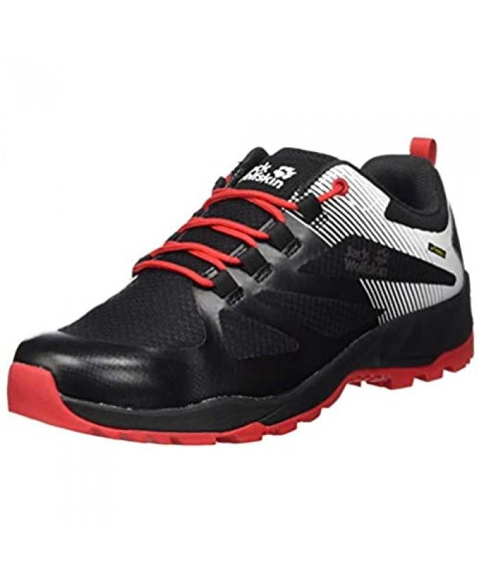 Jack Wolfskin Men's Outdoor Shoes Black Red 11