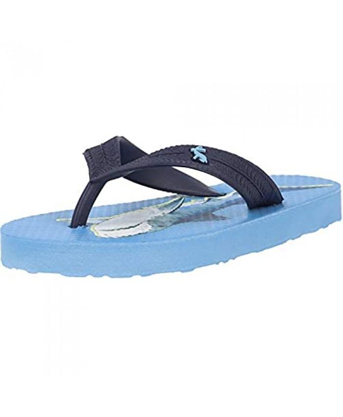 Joules Jnr Flip Flop Shark Mid Blue Rubber Child Flip Flops Sandals