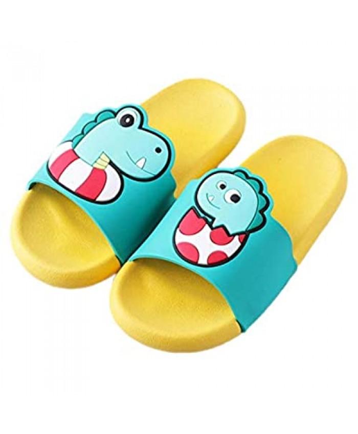 ZOSEN Dinosaur Men'S Sandals Outdoor Swimming Pool Sandals Non-Slip Slippers Shower Beach Sandals (7-7.5in)