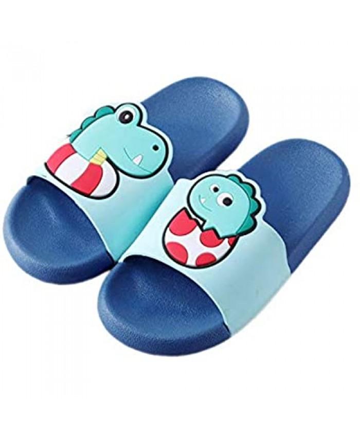 ZOSEN Dinosaur Slippers Shower Pool Non-Slip Sandals Summer Slippers Light Beach Swimming Pool Water Shoes(6-6.5in)