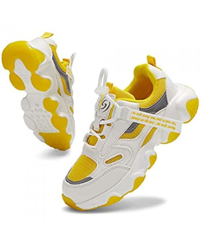 Santiro Boys Running Shoes Girls Tennis Shoes Lightweight Fashion Kids Sneakers