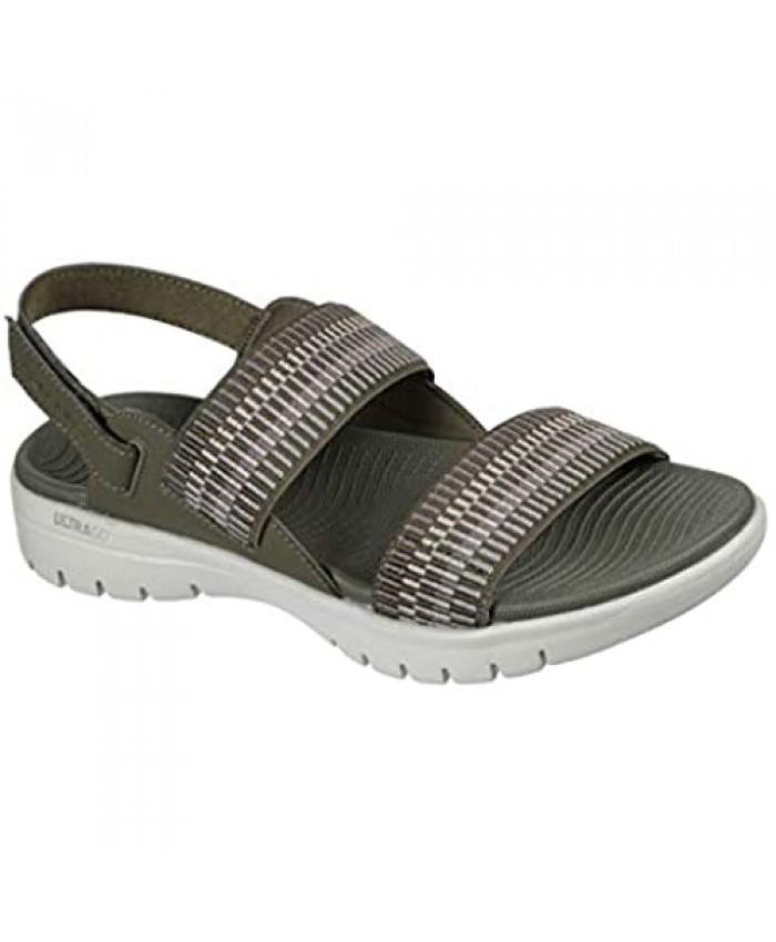 Skechers Women's On-The-go Flex Striped Gore Sandal Flat