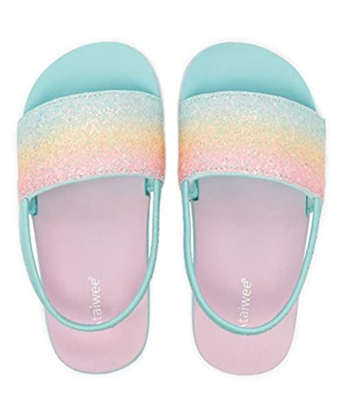 Ataiwee Toddler Girl's Boy's Slide Sandals - Pool Summer Shoes for Children.
