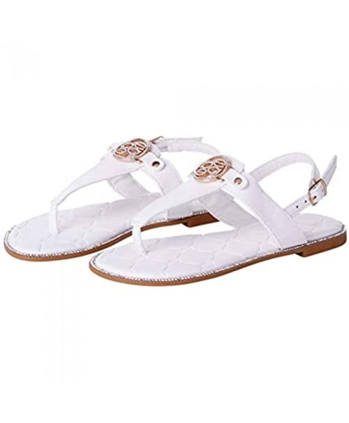 bebe Girls' Sandals - Quilted Medallion Thong Sandals (Little Kid/Big Kid)