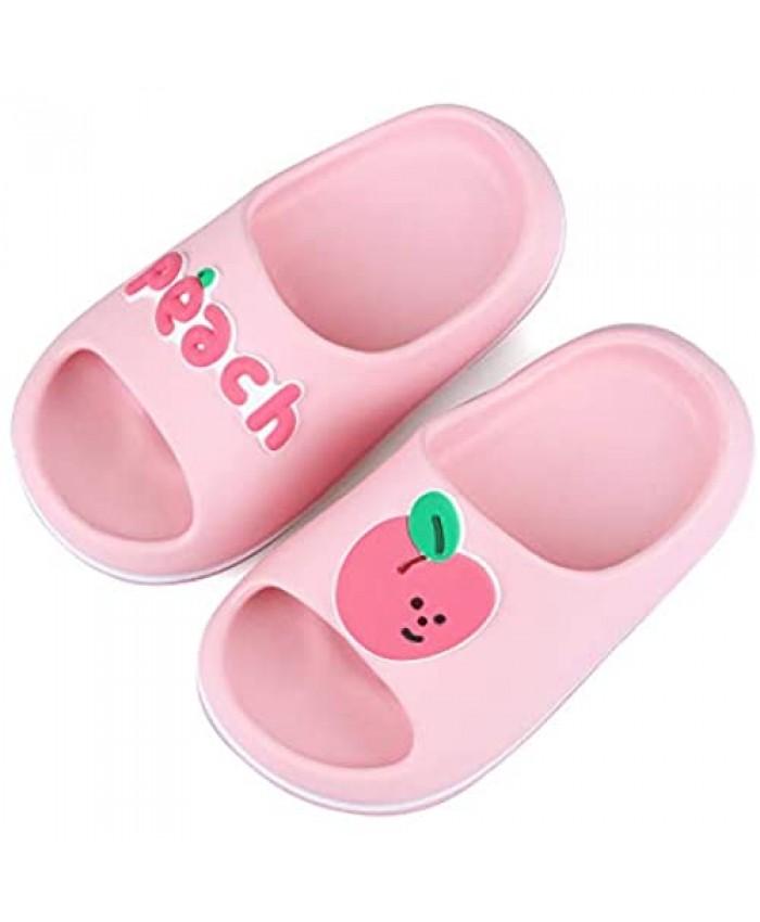 Girls Boys Fruit Slippers Shower Bath Kids Slippers Summer Slides Sandals Beach Pool Water Shoes(Toddler/Little/Big)