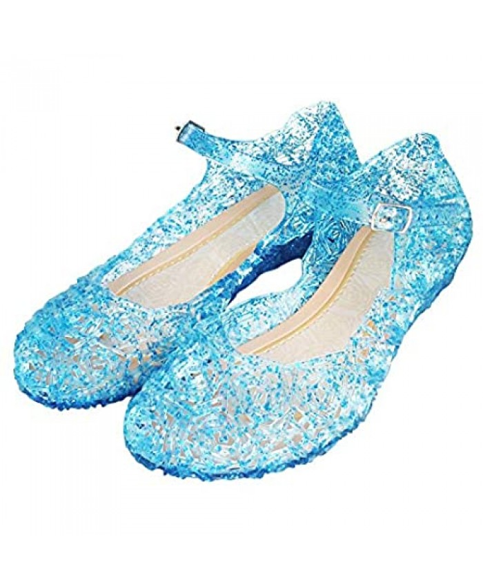 Princess Girls Sandals Dress Up Dance Party Cosplay Jelly Shoes for Kids Toddler Mary Janes
