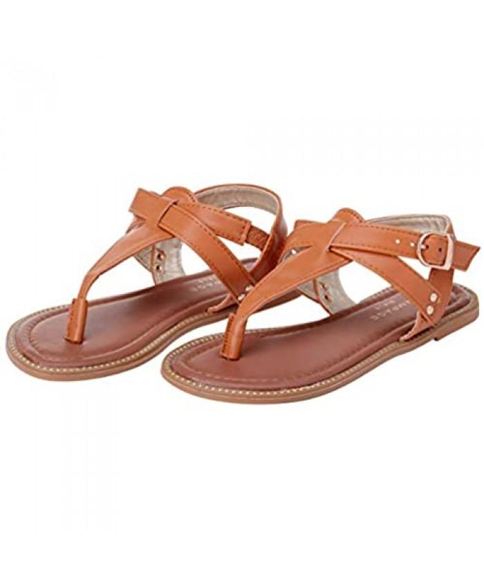 Rampage Girls' Sandals - Studded Leatherette Thong Sandals (Little Kid/Big Kid)
