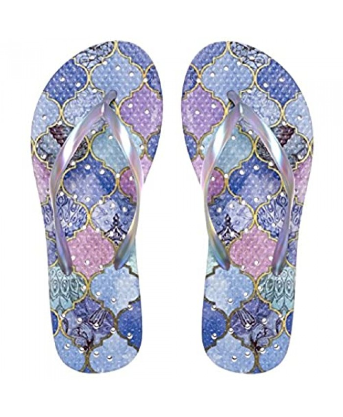 Showaflops Girls' Shower & Water Sandals for Pool Beach Camp and Gym - Elegance Collection