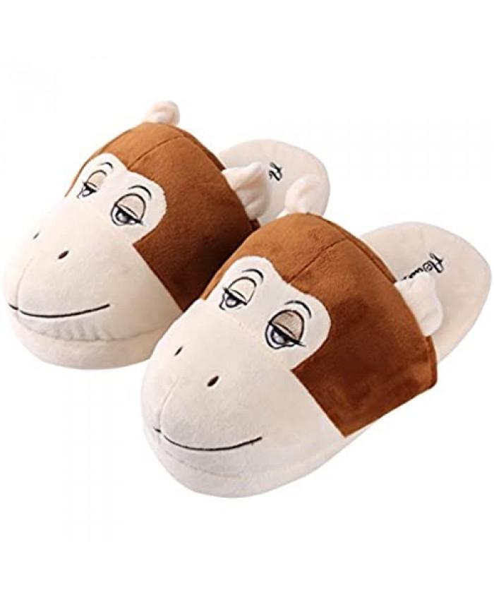 Aerusi Unisex Animal Plush Slipper Kid's Shoe Size 1-3