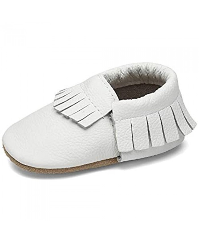 Baby Shoes Girls Soft Sole Tassels Leather Toddler Boys Slippers Non-Slip First Walking