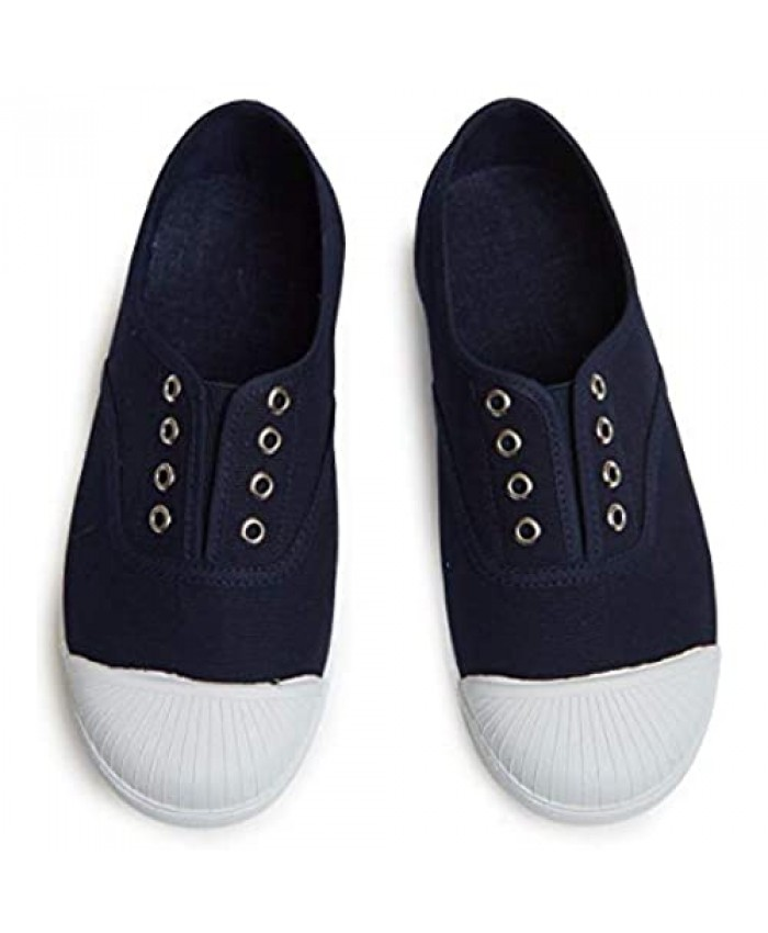 Childrenchic Unisex Canvas Slip-on Cap-Toe Sneakers – Shoes for Boys and Girls (Infant Toddler Little Kid)