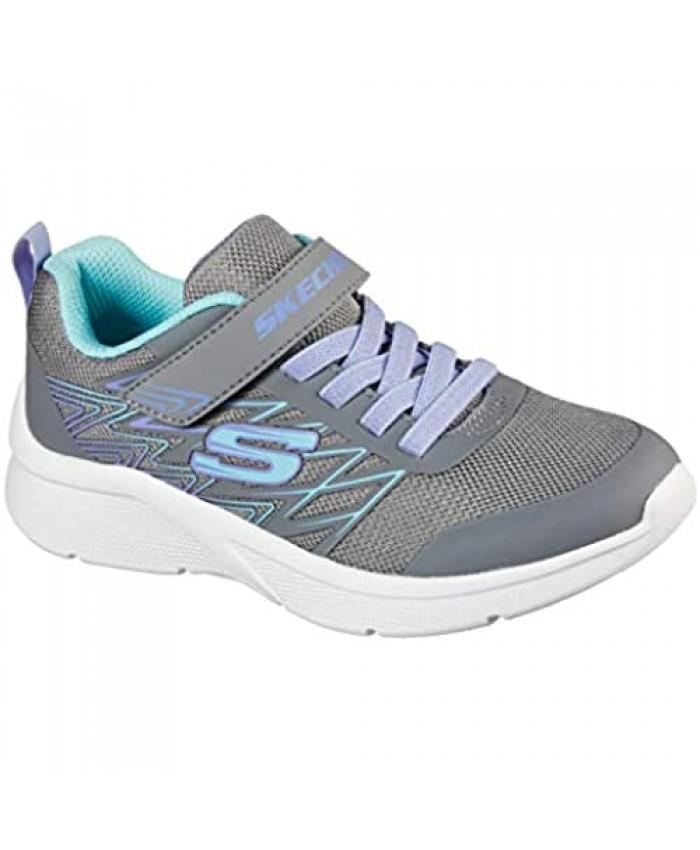 Skechers girls Microspec - Bold Delight Sneaker Grey 12.5 Little Kid US