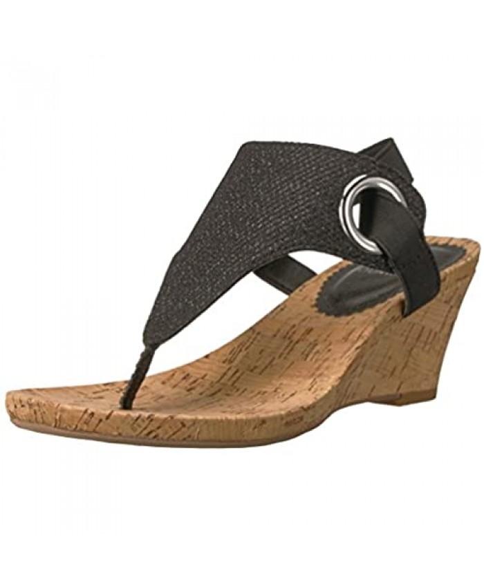 White Mountain Shoes Aida Women's Cork Wedge Sandal